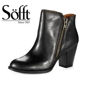 Sofft Cheshire Black Leather Booties